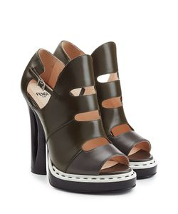 Fendi | Leather Platform Sandals Gr. It 36