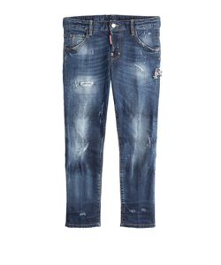 Dsquared2 | Distressed Straight Leg Cropped Jeans Gr. It 38