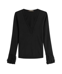 Roberto Cavalli | Wool Pullover With Tulle Gr. It 46