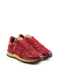 Valentino | Rockrunner Leather And Lace Sneakers Gr. It 36