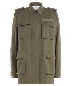 Valentino   Cotton Jacket With Rockstuds Gr. It 38