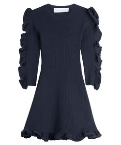 Victoria, Victoria Beckham | Dress With Ruffled Sleeves Gr. Uk 8