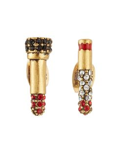 Marc Jacobs | Embellished Lipstick And Cigarette Stud Earrings Gr. One Size