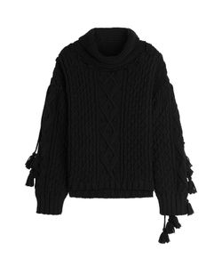 Philosophy di Lorenzo Serafini | Virgin Wool Blend Pullover With Tassels Gr. It 38
