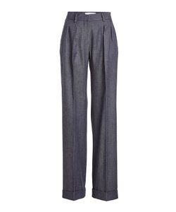 Max Mara | High-Waist Wool Pants With Pleats Gr. De 40