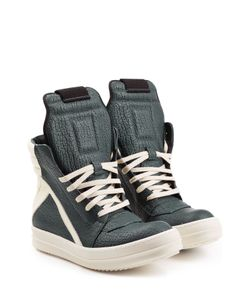 Rick Owens | Textured Leather High-Top Sneakers Gr. It 40