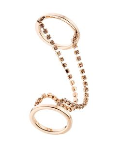 Maison Margiela | Double Ring With Crystal Embellishment Gr. M