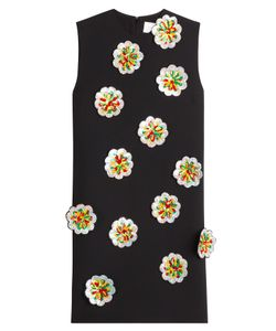 Victoria, Victoria Beckham | Crepe Shift Dress With Sequin Flower Applique Gr. Uk 6