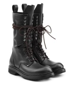 Rick Owens | Leather Combat Boots Gr. It 36