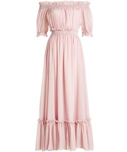Alexander McQueen | Off-Shoulder Dress In Cotton And Silk Gr. It 40