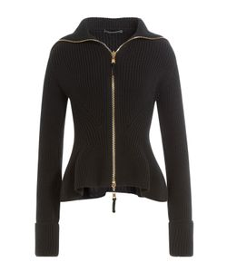 Alexander McQueen | Zipped Wool Jacket With Peplum Gr. S