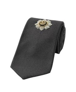 Alexander McQueen | Silk Tie With Embellished Motif Gr. One Size