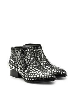 Alexander Wang | Embellished Leather Ankle Boots Gr. Eu 36