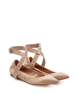 Valentino | Leather Ballet Flats With Ankle Straps Gr. It 36