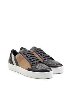 Burberry | Checked Sneakers With Leather And Stud Embellishment Gr. It 36