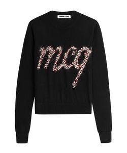Mcq Alexander Mcqueen | Wool Pullover With Embellished Knit Logo Gr. M
