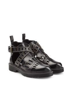 Mcq Alexander Mcqueen | Leather Dalston Cut Out Studded Ankle Boots Gr. It 36
