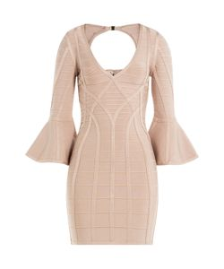 Hervé Léger | Bandage Dress With Fluted Sleeves Gr. M