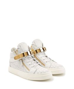 Giuseppe Zanotti Design | Embossed Leather Hip-Tops With Gold Hardware Gr. It 36