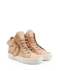 Giuseppe Zanotti Design | Leather Platform Sneaker With Leaf Detail Gr. It 36