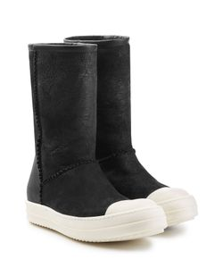 Rick Owens | Shearling Lined Ankle Boots Gr. It 40