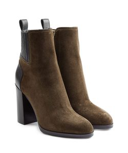 Sergio Rossi | Suede Ankle Boots With Leather Gr. It 415