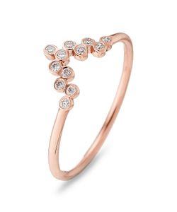 Yannis Sergakis Adornments | 18-Karat Rose Ring With Diamonds Gr. One Size