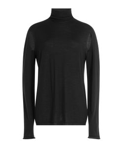 Rick Owens | Wool Turtleneck Pullover With Cut-Out Detail Gr. M