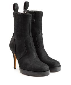Rick Owens | Suede Platform Ankle Boots Gr. It 39