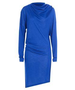 Maison Margiela | Draped Wool Dress With Silk Gr. Fr 38