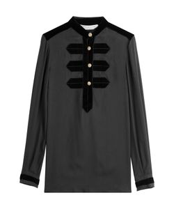 Philosophy di Lorenzo Serafini | Blouse With Velvet Detail Gr. It 38