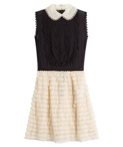 Red Valentino | Silk Dress With Tulle Skirt Gr. It 38