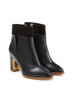 Rupert Sanderson | Woodlea Leather And Suede Ankle Boots Gr. Eu 36