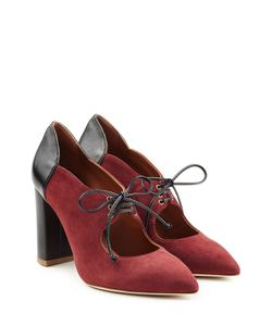 MALONE SOULIERS | Suede Pumps With Lace-Up Front Gr. Eu 36
