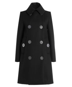 Simone Rocha | Wool Blend Coat With Flower Buttons Gr. Uk 8