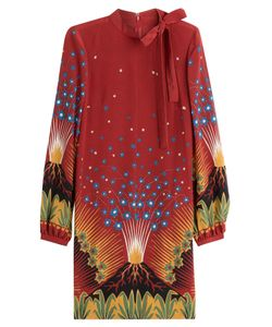 Valentino | Volcano Silk Crepe Dress Gr. It 40