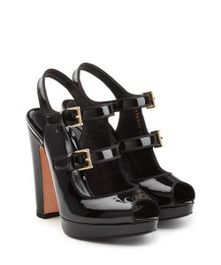 Alexander McQueen | Patent Leather Platform Sandals Gr. It 36