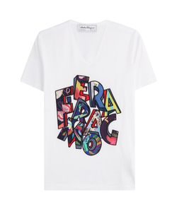 Salvatore Ferragamo | Printed Cotton T-Shirt Gr. S