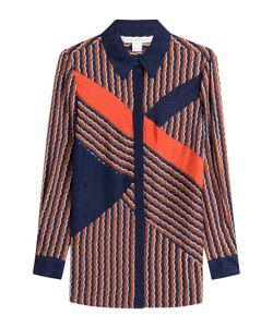 Diane Von Furstenberg | Printed Silk Blouse Gr. Us 2