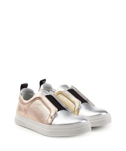 Pierre Hardy | Metallic Leather Slip-On Sneakers Gr. Fr 36
