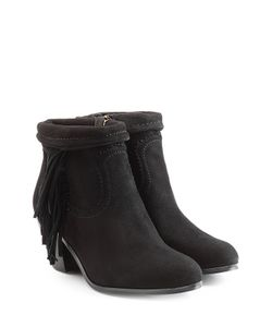 Sam Edelman | Suede Ankle Boots With Fringe Gr. Us 8