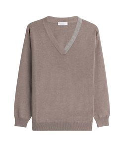 Brunello Cucinelli   Cashmere Pullover With Embellished Trim Gr. S