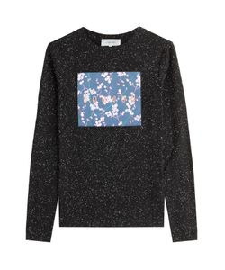 Carven | Stretch Cotton Longsleeve T-Shirt With Logo Patchwork Gr. S