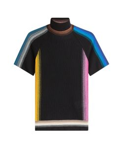 Missoni | Wool Mixed Striped Short Sleeve Mock Neck Gr. It 38