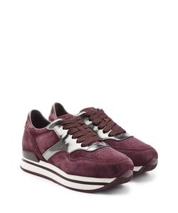 Hogan | Suede And Leather Platform Sneakers Gr. It 36