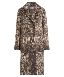 Alberta Ferretti | Printed Coat With Virgin Wool And Alpaca Wool Gr. It 38