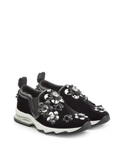 Fendi | Suede Sneakers With Embellished Flower Appliques Gr. It 36
