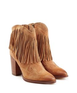 Sam Edelman | Suede Ankle Boots With Fringe Gr. Us 85