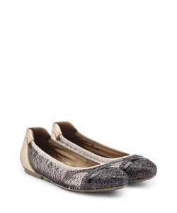 Hogan | Leather Ballerinas With Glitter And Sequins Gr. It 36