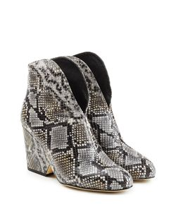 Diane Von Furstenberg | Snake Embossed Leather Ankle Boots Gr. Us 8
